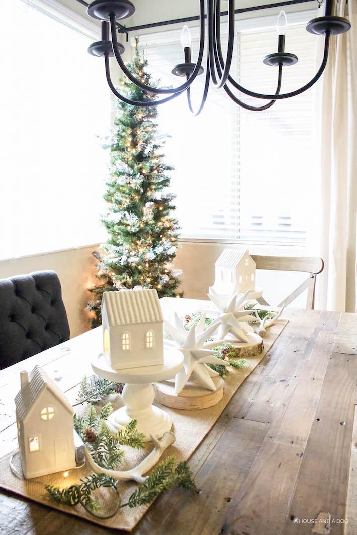 Winter Wonderland Christmas Village Tablescape Designed Simple