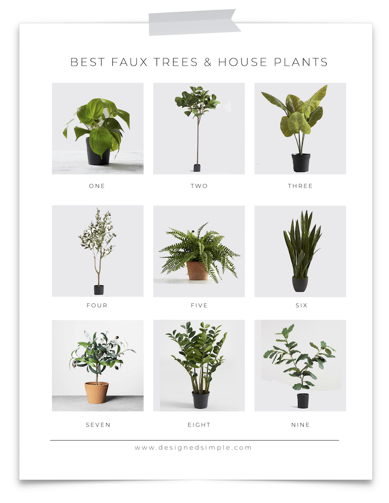 Best Faux Trees House Plants Designed Simple